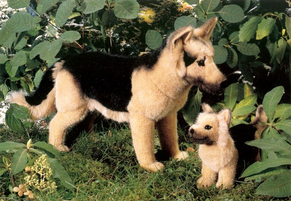 Kosen Stuffed Plush Alsatians