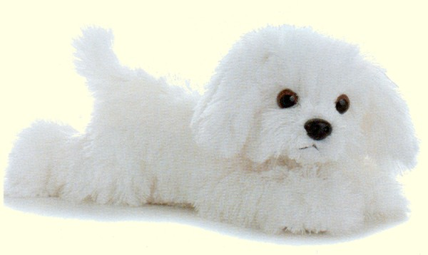 "Aurora ""Bella"" Stuffed Plush Bichon"
