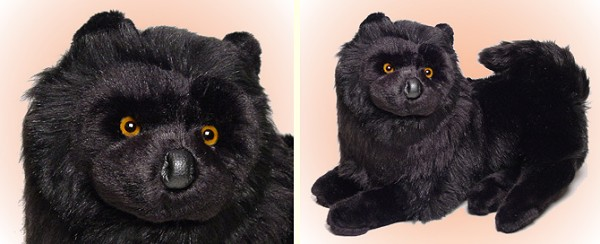 Piutre Stuffed Plush Black Chow Chow