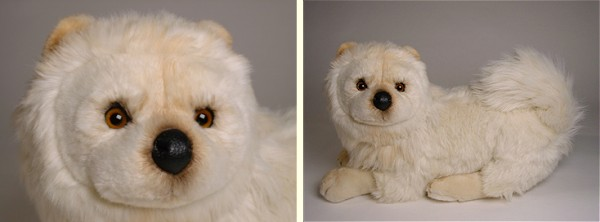 Piutre Stuffed Plush Cream Chow Chow