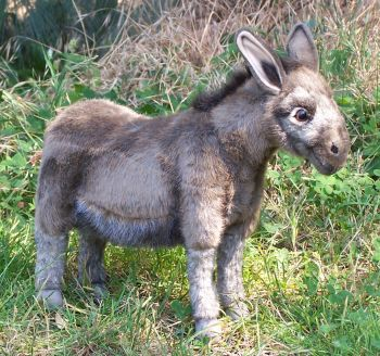Hansa Stuffed Plush Donkey