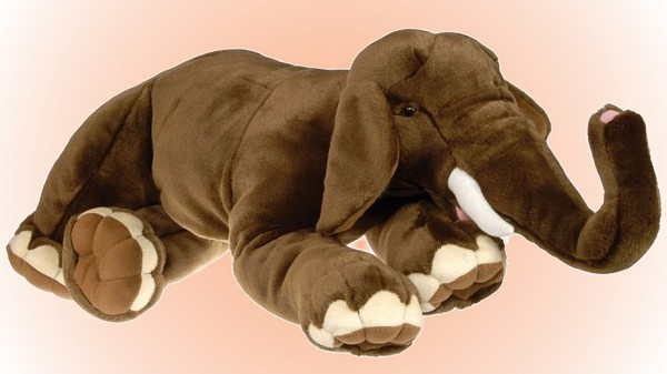 Wild Republic Stuffed Plush Asian Elephant