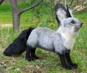 Hansa Stuffed Plush Bat-Eared Fox