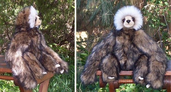 Hansa Young Stuffed Plush Sloth