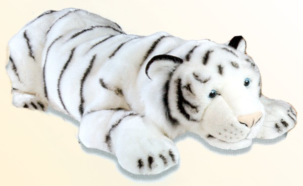 Stuffed Plush White Tiger From Stuffed Ark