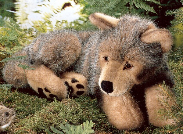 Kosen Stuffed Plush Wolf Puppy